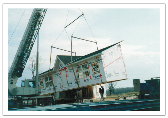 Crane Lifting House